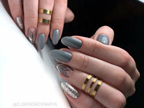 маникюр дизайн осень 2021 на квадратные ногти