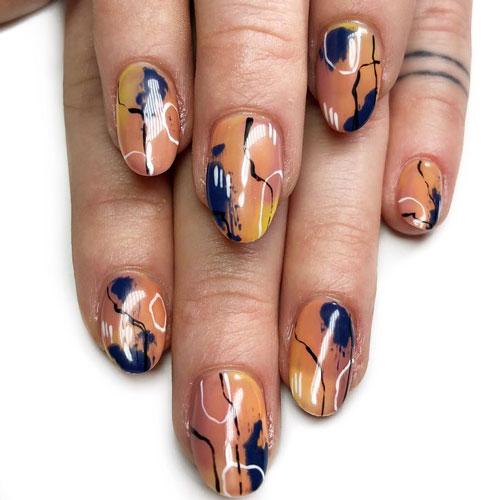 маникюр дизайн ногтей нежный 2021 осень