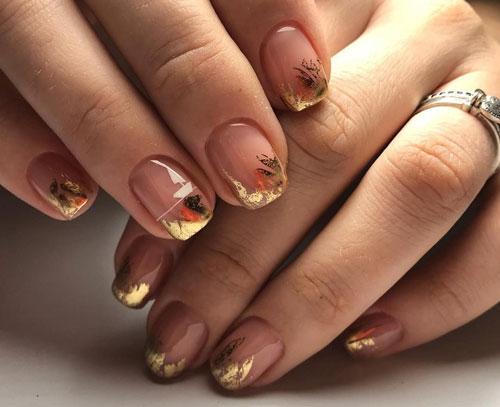 маникюр 2021 осень короткие ногти фото дизайн