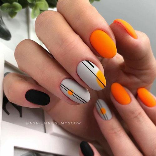 фото маникюра на короткие ногти модные осенью
