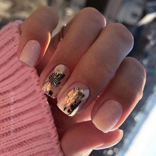 идеи маникюра на короткие ногти осень