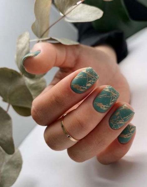 маникюр на короткие ногти нежные 2021 осень