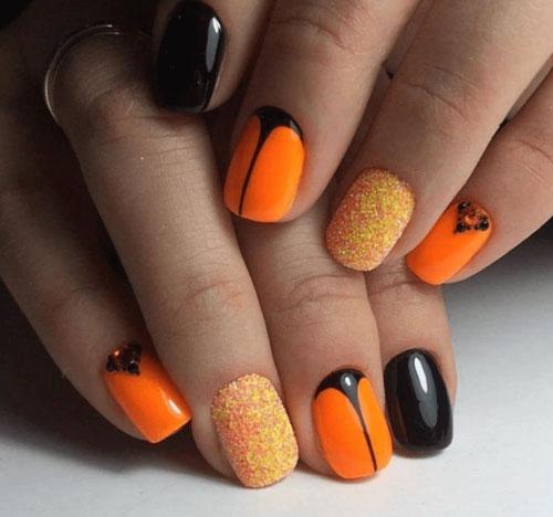 маникюр осень на короткие ногти фото