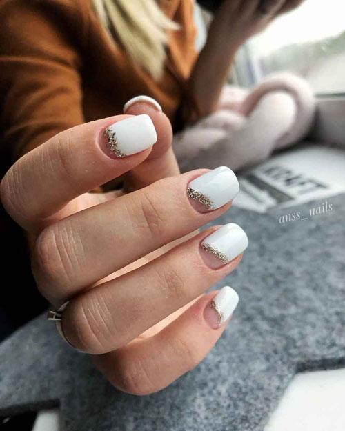 маникюр на короткие ногти гель 2021 осень