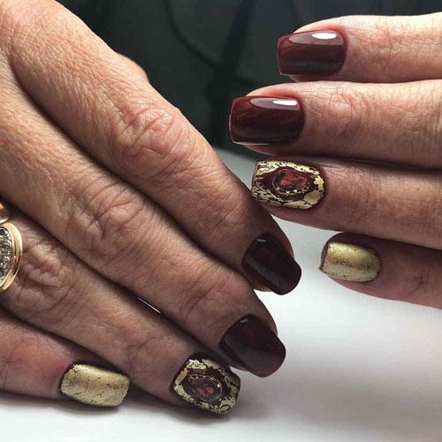 маникюр дизайн нежный на короткие ногти осень