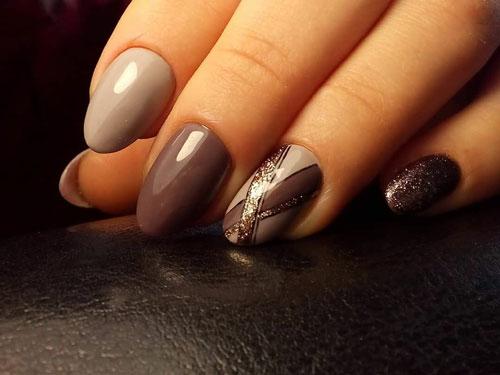 модный маникюр на короткие ногти осень