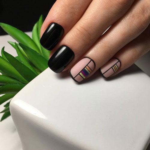маникюр 2021 осень короткие ногти квадратные