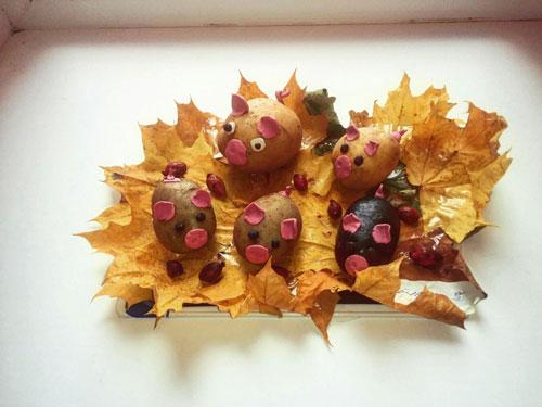 поделки своими руками на тему золотая осень в садик 7