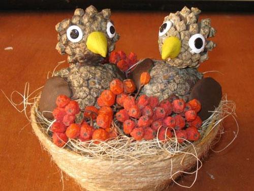 поделки из природного материала для начальной школы на тему осень своими руками 5