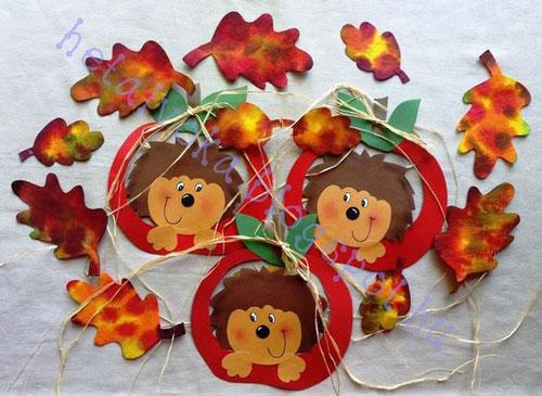 Поделки на тему Осень своими руками для детского сада простые 8