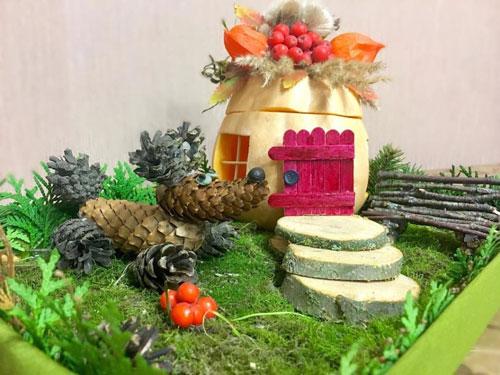 детские поделки с использованием природного материала в детском саду 10