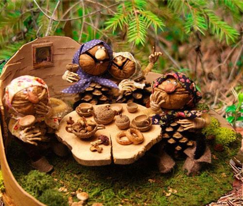детские поделки с использованием природного материала в детском саду 3