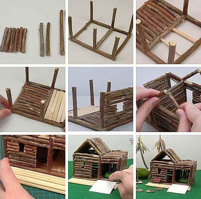 простые поделки из природных материалов для детей 11
