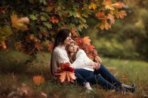 семейная фотосессия осенью на природе идеи фото с детьми 7