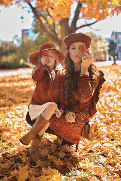 семейная фотосессия осенью на природе идеи фото с детьми 4