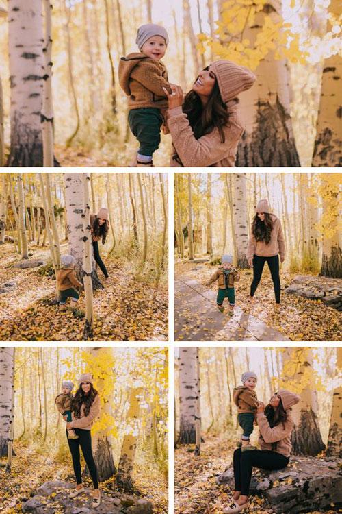 семейная фотосессия осенью на природе идеи фото с детьми 3