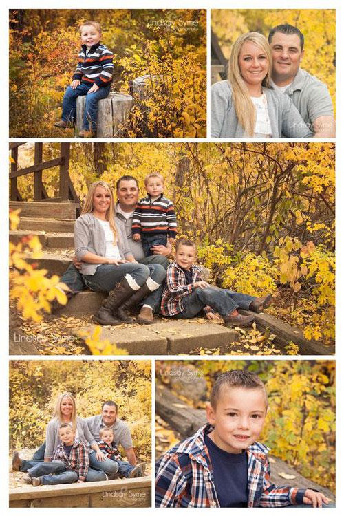 семейная фотосессия осенью на природе идеи фото с детьми