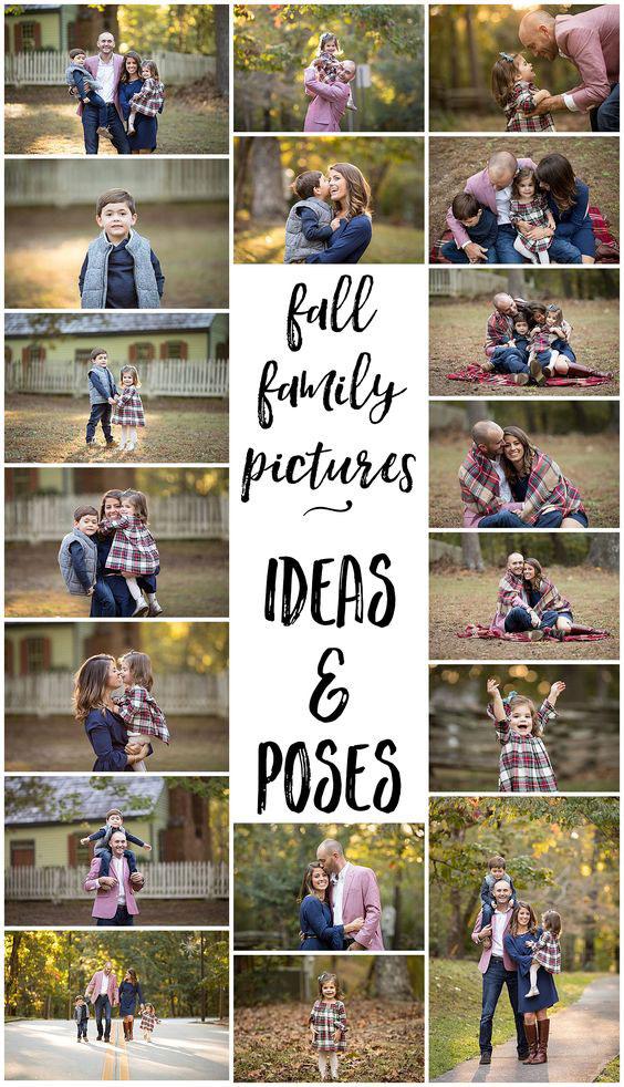 идеи для семейной фотосессии осенью на природе с детьми 9