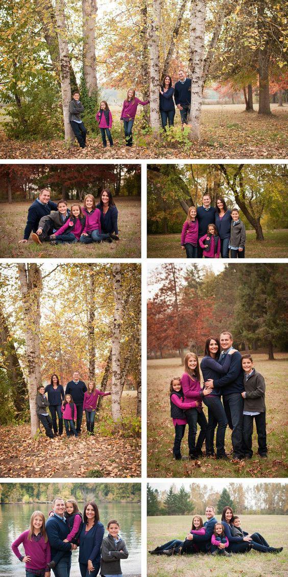 идеи для семейной фотосессии осенью на природе с детьми 8