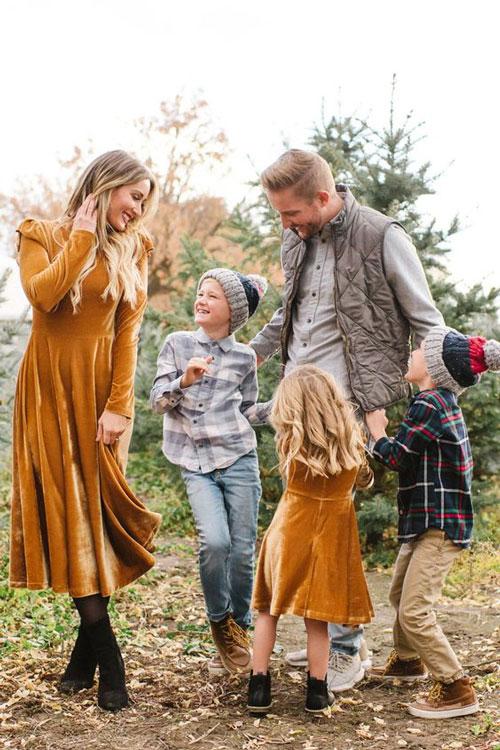 идеи для семейной фотосессии осенью на природе с детьми 5