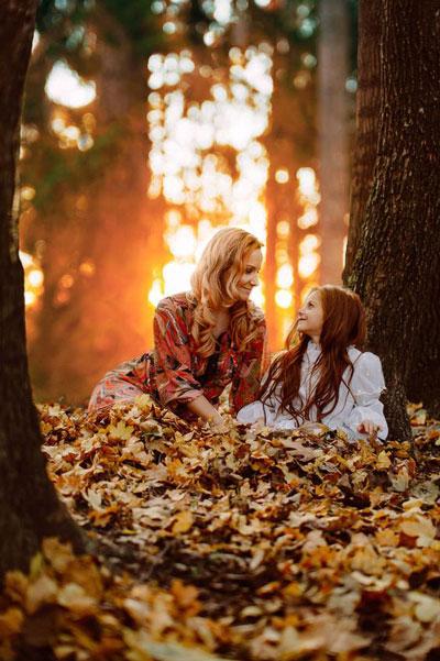 идеи для семейной фотосессии осенью на природе с детьми 3