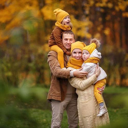 идеи для семейной фотосессии осенью на природе с детьми 2
