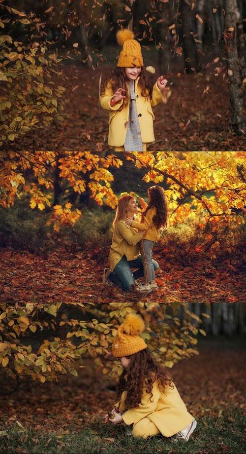 идеи для семейной фотосессии на природе осенью в лесу 7