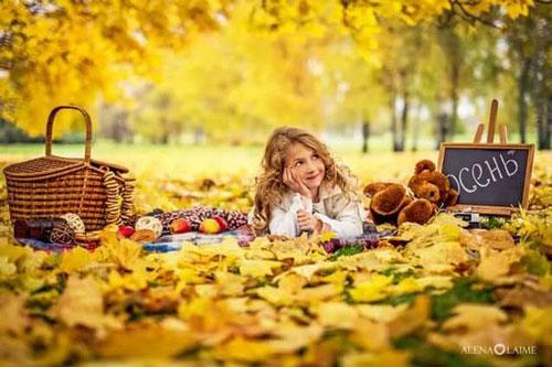 идеи для семейной фотосессии на природе осенью в лесу