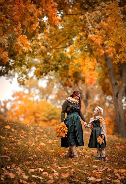 идеи для семейной фотосессии на природе осенью фото 3