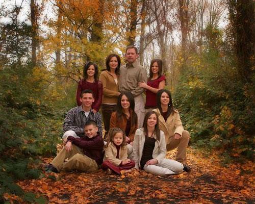 идеи для семейной фотосессии на природе осенью фото