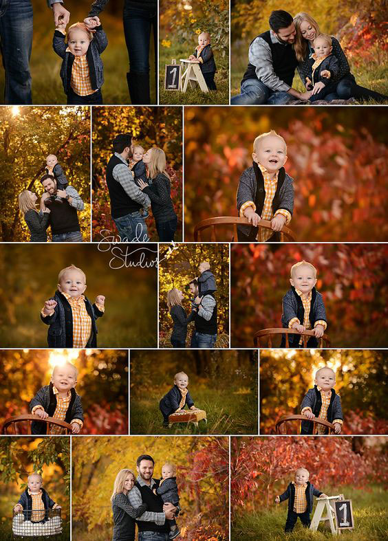 идеи для семейной фотосессии на природе осенью с детьми 8