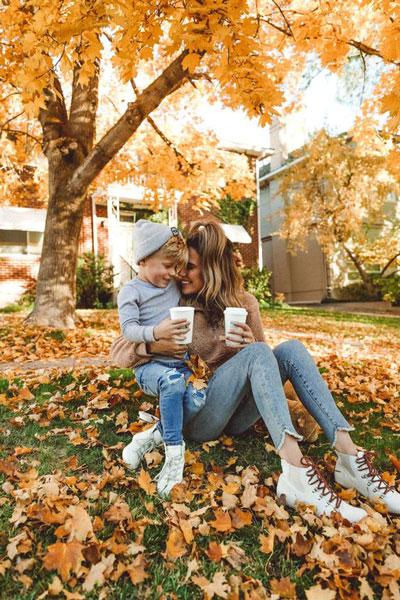 идеи для семейной фотосессии на природе осенью с детьми 7