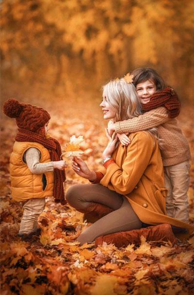 идеи для семейной фотосессии на природе осенью с детьми 5