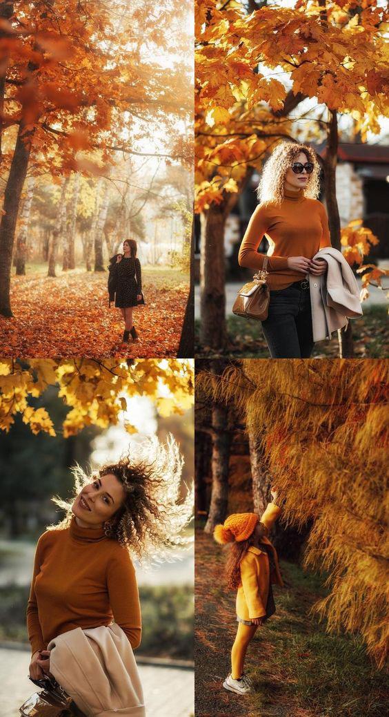 идеи для семейной фотосессии на природе осенью с детьми 3