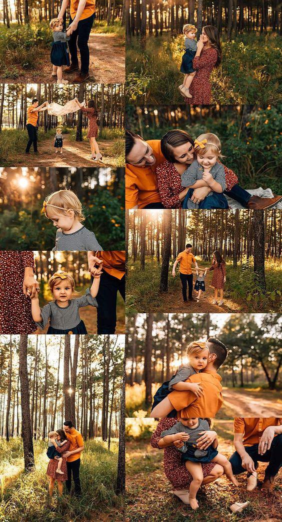 идеи оформления семейной фотосессии на природе осенью 4
