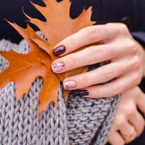 маникюр на короткие ногти нежные фото осень 9