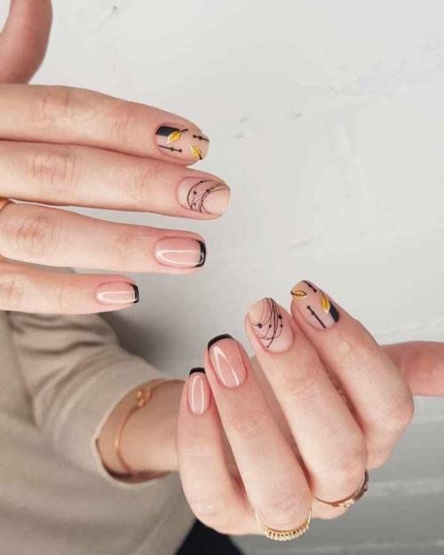 маникюр на короткие ногти нежные фото осень 8