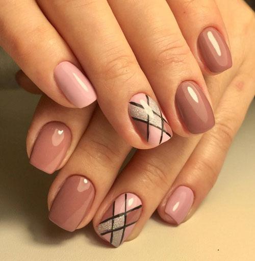 маникюр на короткие ногти нежные фото осень 5