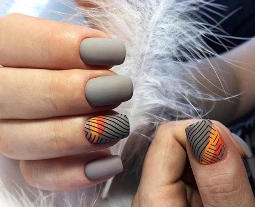 маникюр на короткие ногти нежные фото осень 4