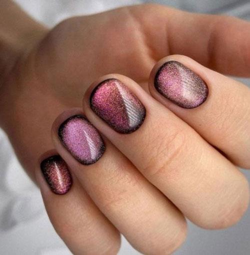 маникюр на короткие ногти нежные фото осень 2