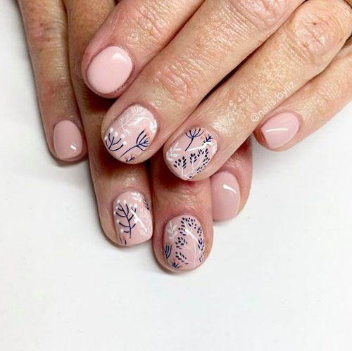 маникюр на очень короткие ногти осень 10