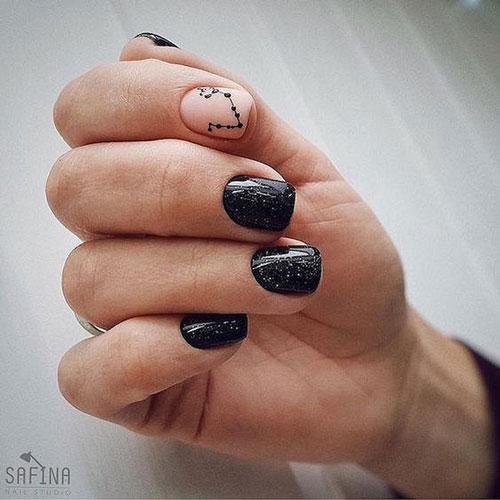 маникюр дизайн осень на короткие ногти квадратные 8