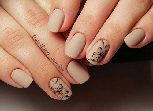 маникюр 2021 осень короткие ногти модный цвет 8
