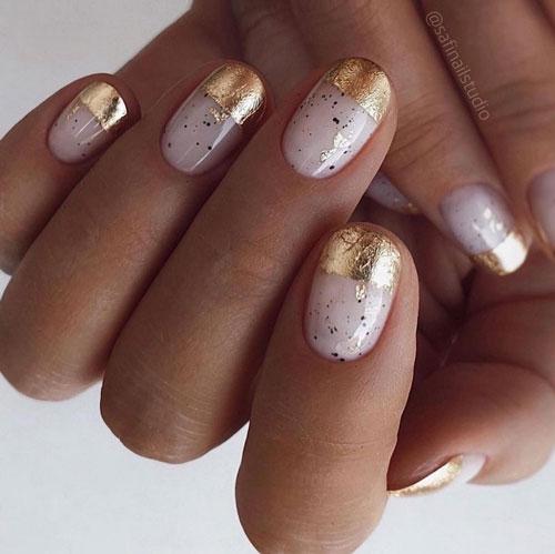 маникюр 2021 осень короткие ногти модный цвет 6