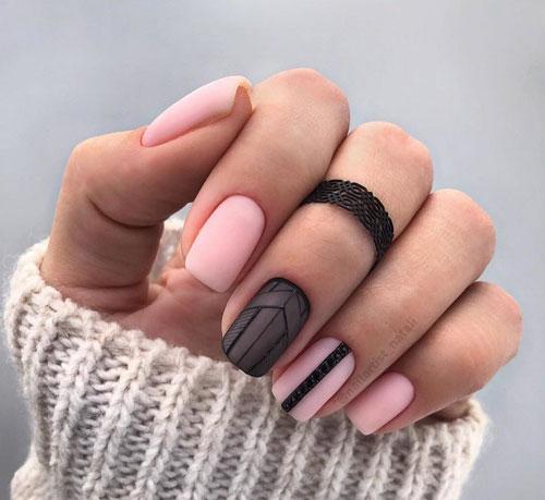 маникюр 2021 осень короткие ногти модный цвет 5
