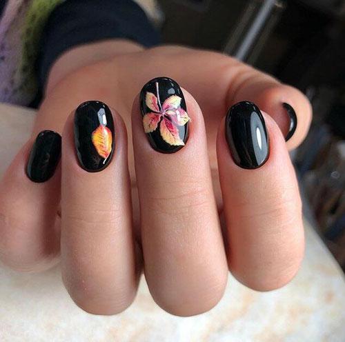 маникюр 2021 осень короткие ногти модный цвет 4
