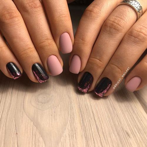 маникюр 2021 осень короткие ногти модный цвет 3