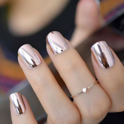 маникюр 2021 осень короткие ногти модный цвет 2