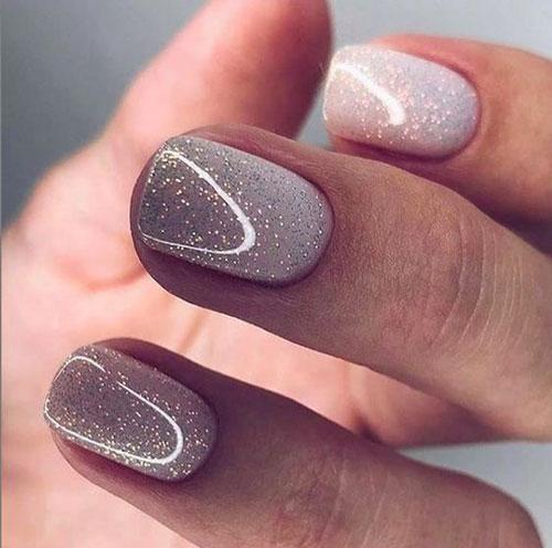 маникюр 2021 осень короткие ногти нежный дизайн 8