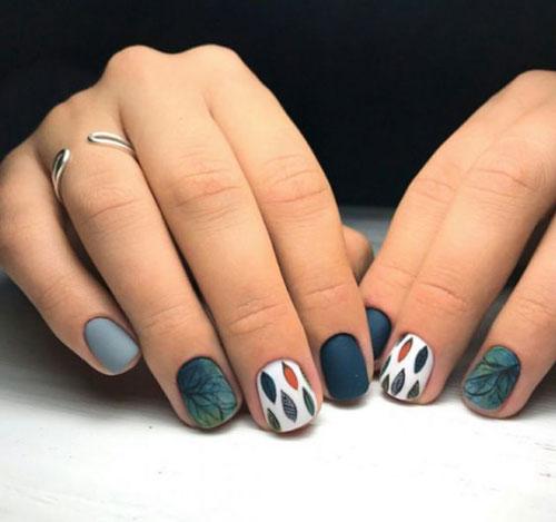 маникюр на короткие ногти осень 2021 года 10